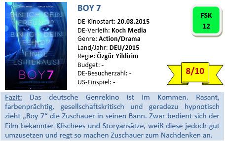 Boy 7 - Bewertung