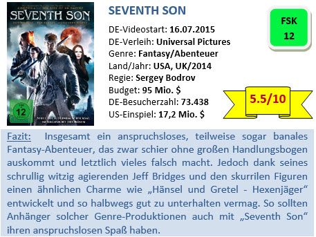 Seventh Son - Bewertung