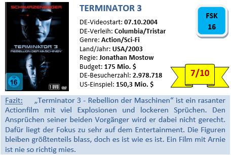 Terminator 3 - Bewertung