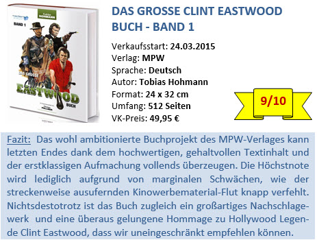 Clint Eastwood Buch - Band 1 - Bewertung