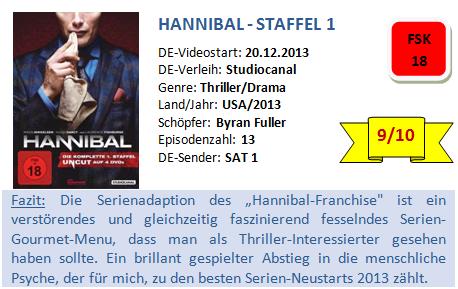 Hannibal - S1 - Bewertung