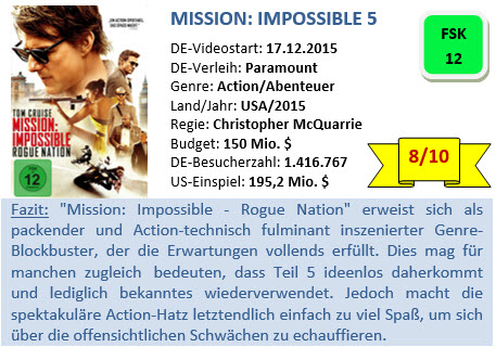 Mission Impossible 5 - Bewertung