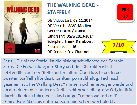The Walking Dead - S4 - Bewertung