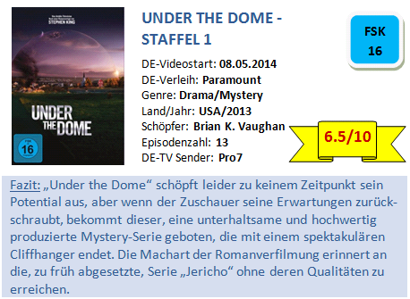 Under the Dome - S1 - Bewertung