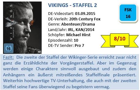 Vikings - S2 - Bewertung