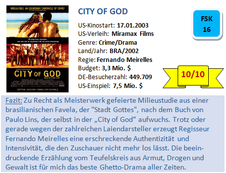 City of God - Bewertung
