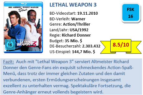 Lethal Weapon 3 - Bewertung