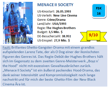 Menace II Society - Bewertung