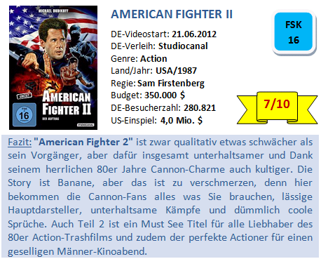 American Fighter 2 - Bewertung