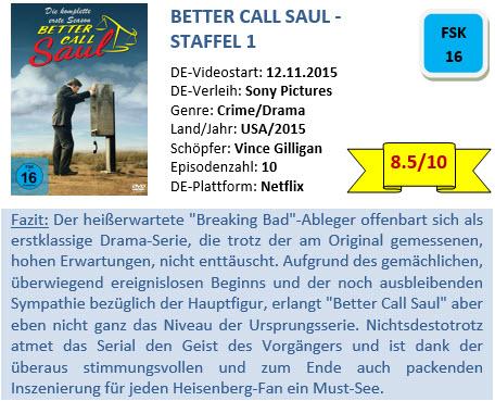 Better Call Saul - S1 - Bewertung