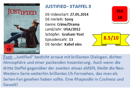 Justified - S3 - Bewertung