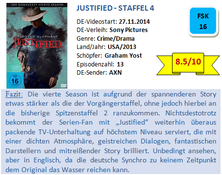 Justified - S4 - Bewertung