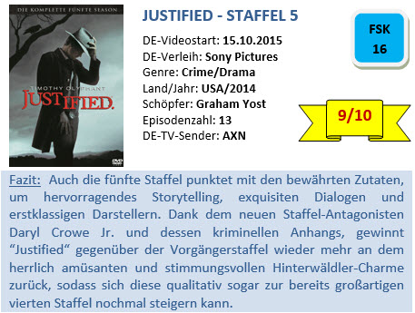 Justified - S5 - Bewertung