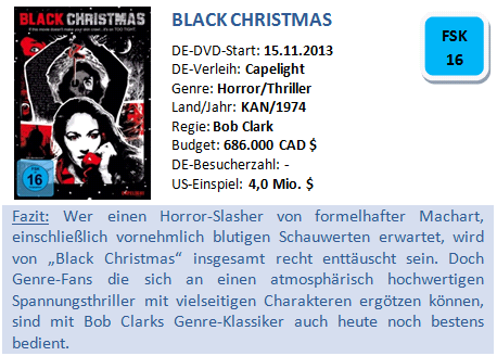 Black Christmas - Bewertung