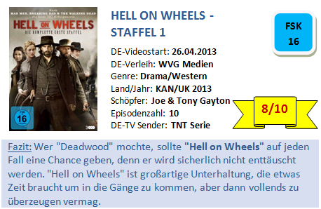 Hell on Wheels - S1 - Bewertung