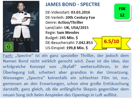 James Bond - Spectre - Bewertung