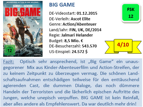 Big Game - Bewertung