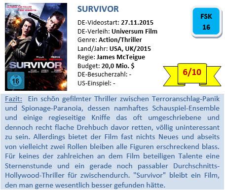 Survivor - Bewertung 2