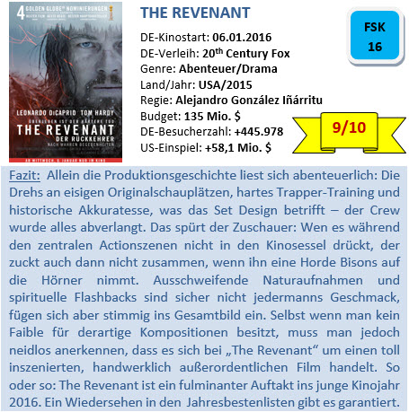 The Revenant - Bewertung