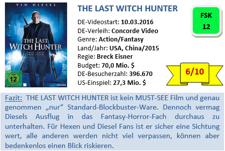 The Last Witch Hunter - Bewertung