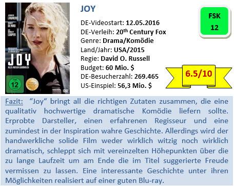 Joy - Bewertung