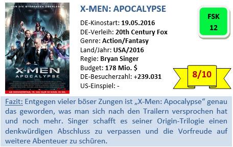 X-Men - Apocalypse - Bewertung