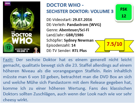 Doctor Who - Sechster Doktor - Vol. 3