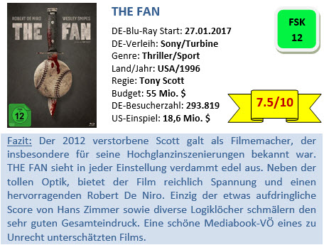 The Fan - Bewertung