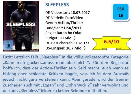 Sleepless - Bewertung