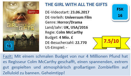 The Girl with all the Gifts - Bewertung
