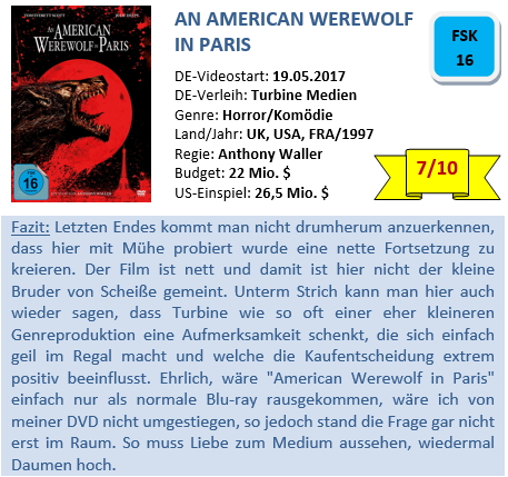 American Werewolf in Paris - Bewertung