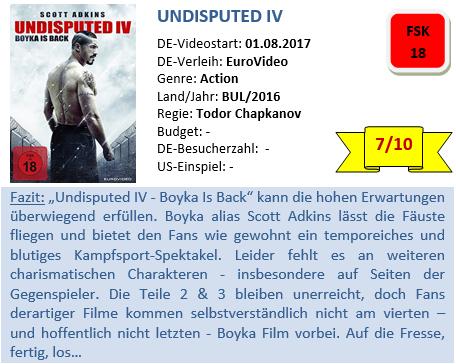 Undisputed 4 - Bewertung