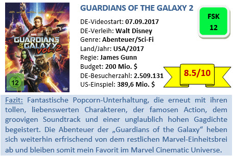 Guardians of the Galaxy 2 - Bewertung