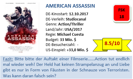 American Assassin - Bewertung