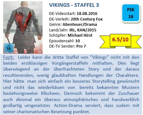 Vikings - S3 - Bewertung