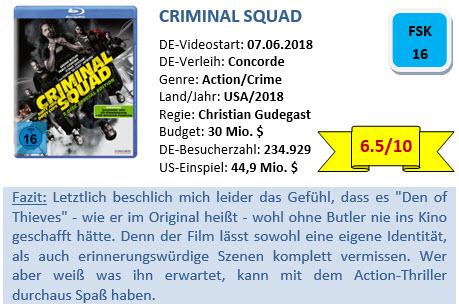 Criminal Squad - Bewertung
