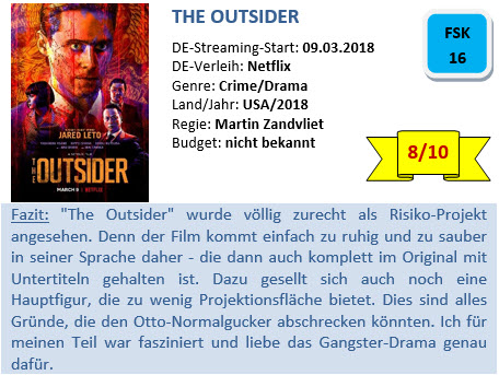 The Outsider - Bewertung