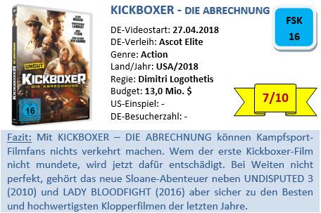 Kickboxer - Die Abrechnung - Bewertung