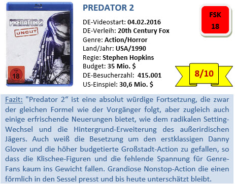 Predator 2 - Bewertung