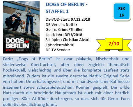 Dogs of Berlin - S1 - Bewertung
