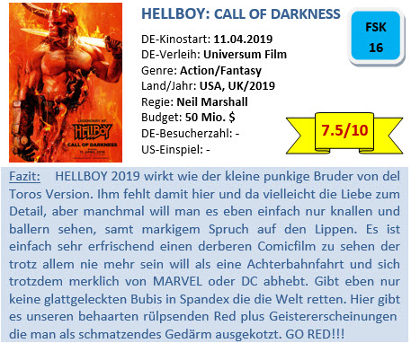 Hellboy 2019 - Bewertung