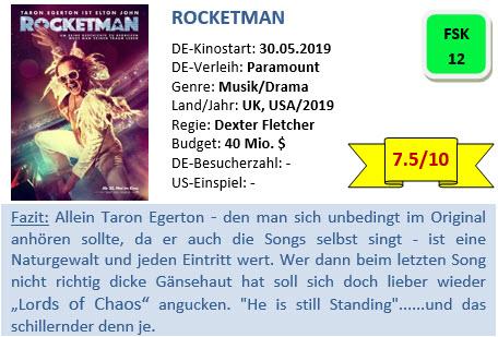 Rocketman - Bewertung