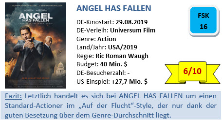 Angel has fallen - Bewertung