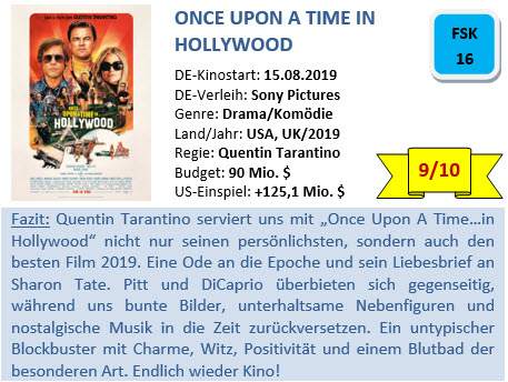 Once Upon a Time in Hollywood - Bewertung