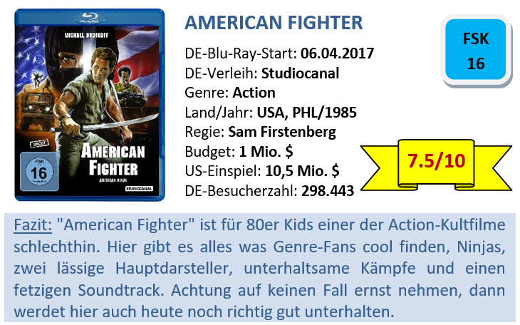 American Fighter - Bewertung