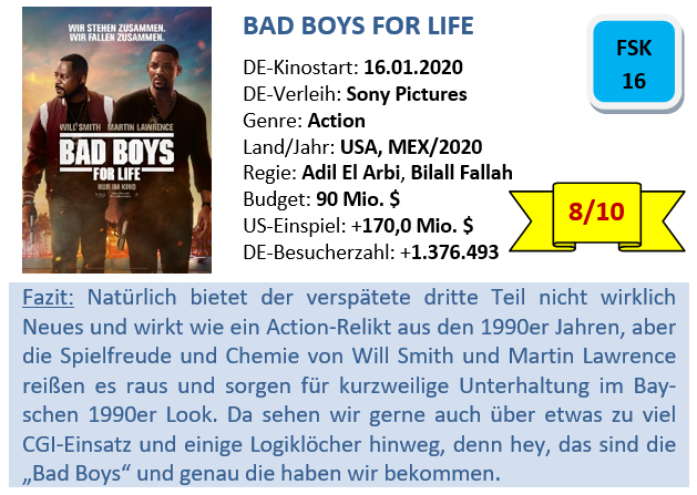 Bad Boys 3 - Bewertung