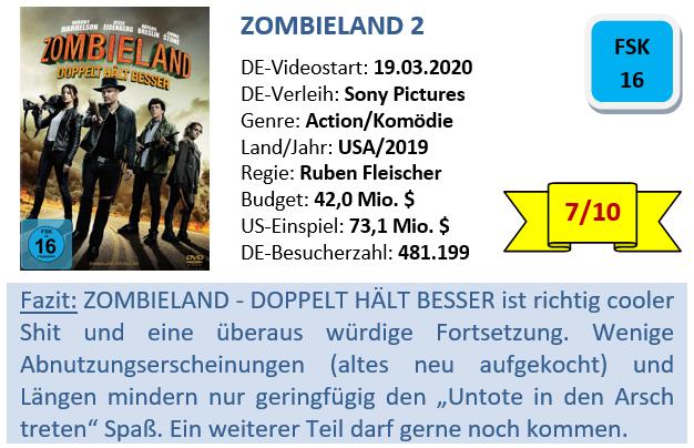 Zombieland 2 - Bewertung