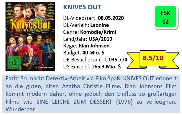Knives Out - Bewertung