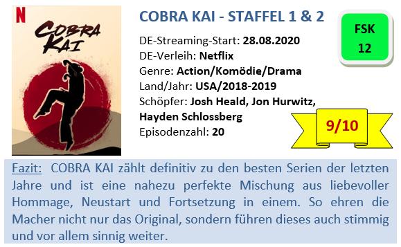 Cobra Kai - Staffe1 und 2 - Bewertung