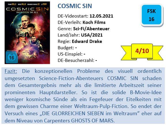 Cosmic Sin - Bewertung